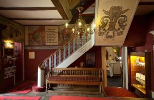 The lobby or reception area at Hotel Dagmar