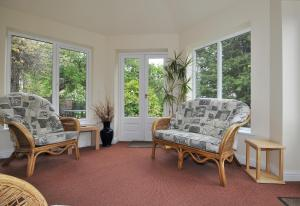 A seating area at Marton Grange Country House