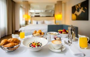 Breakfast options available to guests at Alcron Hotel Prague