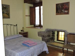 Cama o camas de una habitación en Balkonpe Landa Etxea
