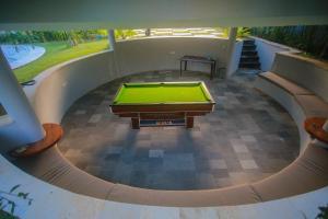 A billiards table at Padang-Padang Inn