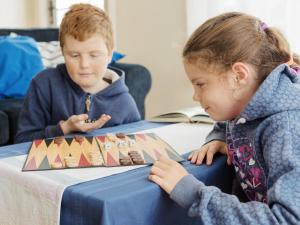 Children staying at Catherine Lodge Farm Gate Cottages