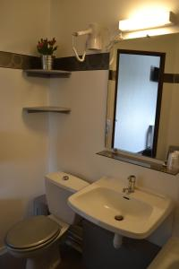 Salle de bains dans l'établissement Hotel Restaurant La Cuis'in