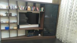 Телевизор и/или развлекательный центр в Апартаменты на Пушкинской