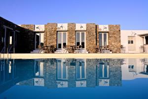 Der Swimmingpool an oder in der Nähe von Rizes Hotel