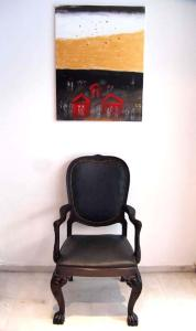 A seating area at Art Suites Athens