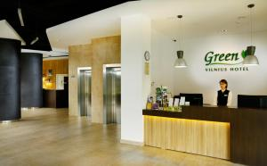The lobby or reception area at Green Vilnius Hotel