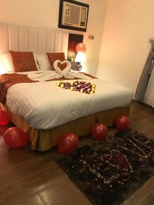 Cama ou camas em um quarto em Bedar Aparthotel