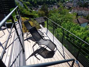 Balcon ou terrasse dans l'établissement La Colline aux Yeux Doubs