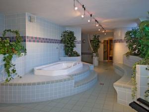 A bathroom at Hotel Toblacherhof