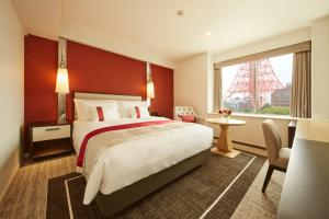 東京プリンスホテルにあるベッド