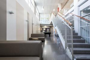 The lobby or reception area at Residencia Universitaria Campus del Mar