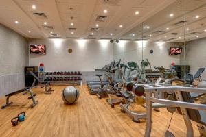 Γυμναστήριο ή/και όργανα γυμναστικής στο Raintree Rolla Hotel