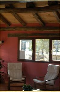 A seating area at Posada Molino La Vega