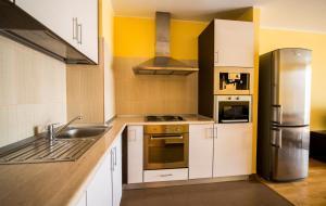 O bucătărie sau chicinetă la Coralia Serviced Apartments