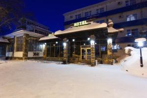 Гостиница Полет зимой