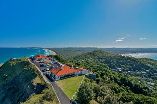 A bird's-eye view of Byron Bay Cottages