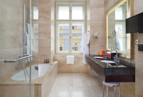 A bathroom at Mandarin Oriental, Prague