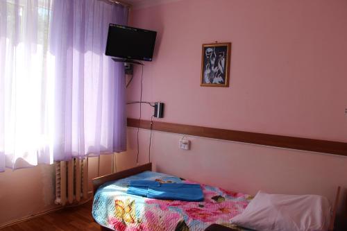 Телевизор и/или развлекательный центр в Hotel Rus