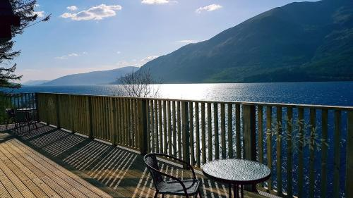 A balcony or terrace at Letterfinlay Lodge House