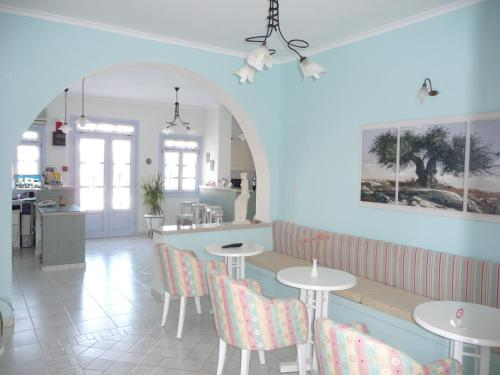 A restaurant or other place to eat at Aeolis Hotel