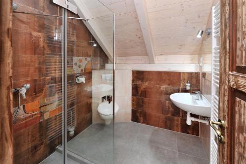 Kúpeľňa v ubytovaní Vila U Septima