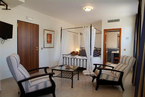 Zona de estar de Atrium Hotel