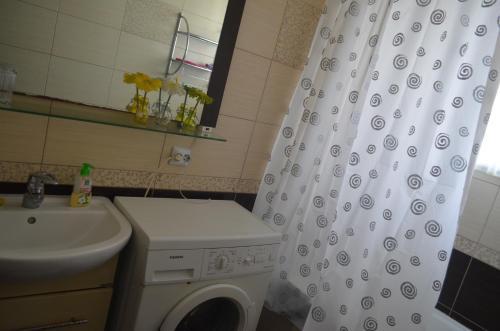 Ванная комната в Apartment Zheleznodorozhnaya 4