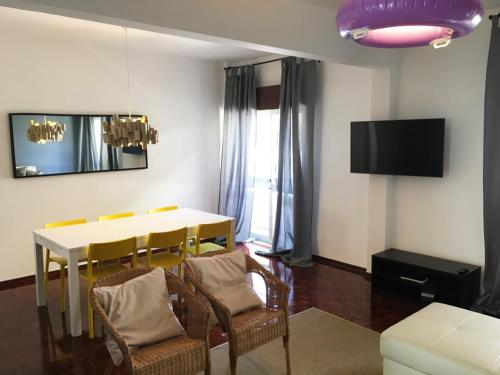 A television and/or entertainment center at Lemon Tree Apartments