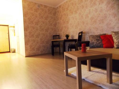 Гостиная зона в Apartments at Nosovikhinskoye shosse 25-2