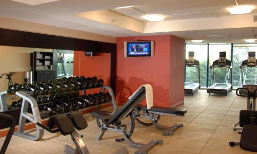 The fitness center and/or fitness facilities at Embassy Suites San Francisco Airport - South San Francisco