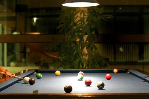 Uma mesa de bilhar em VILA PARK Nature & Business Hotel