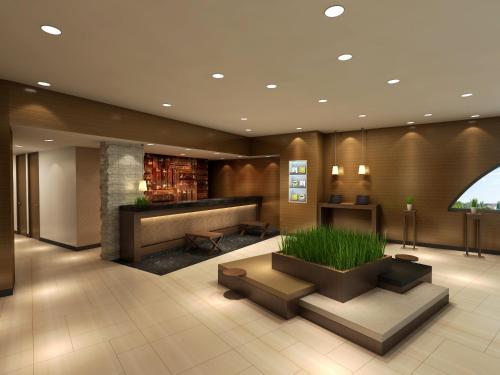 The lobby or reception area at Hotel Il Credo Gifu