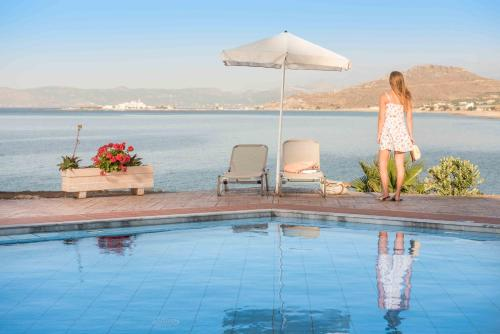 The swimming pool at or close to Balos Beach