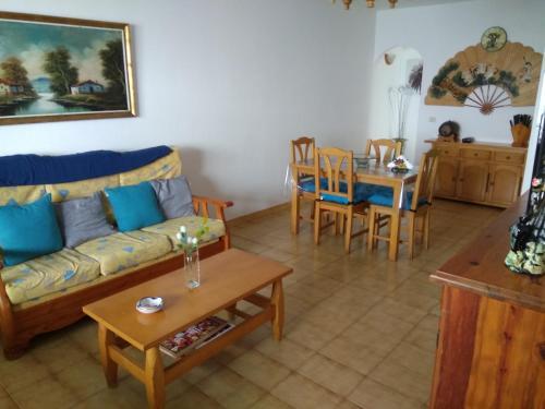 A seating area at Lanzarote - El Golfo