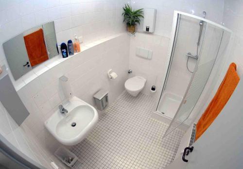 A bathroom at Hostel Jena