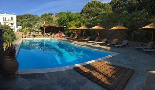 The swimming pool at or near Vassiliki Studios