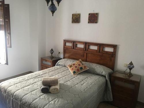 Cama o camas de una habitación en Two bedroom Flat realejo, campo del principe
