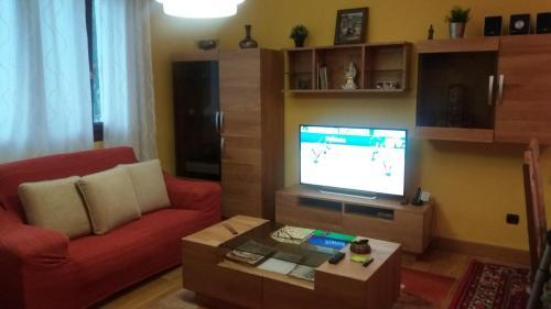 A television and/or entertainment center at Apartamento Loiu