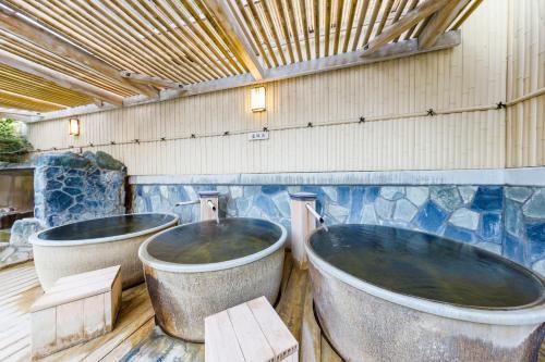 A bathroom at Route Inn Grantia Hanyu Spa Resort