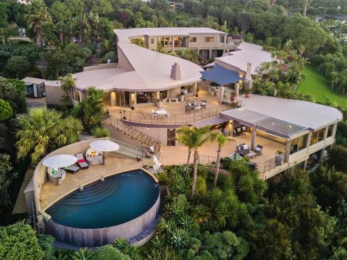 A bird's-eye view of Delamore Lodge