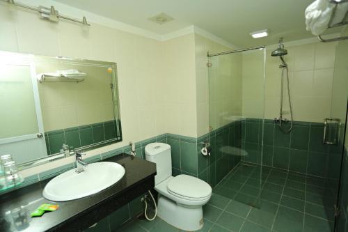 Phòng tắm tại Hanvet Tam Đảo Hotel