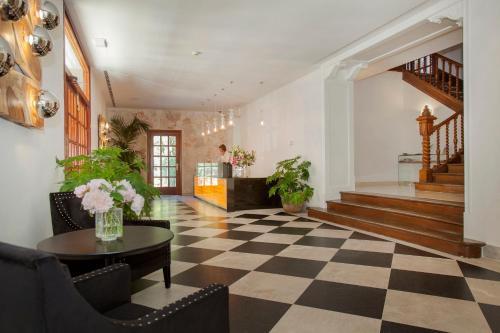 Lobbyn eller receptionsområdet på Hotel Continental Valldemossa