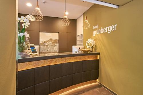 The lobby or reception area at Hotel Grünberger superior