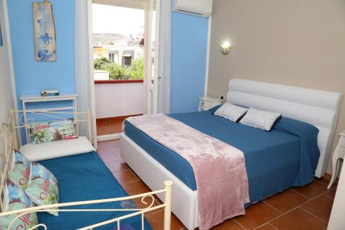 A bed or beds in a room at Villa Piana