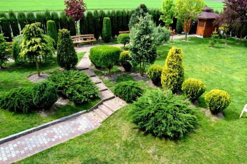 A garden outside Hotel Wielkopolanka