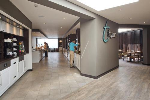 The lobby or reception area at Premier Inn Heathrow Airport Terminal 4