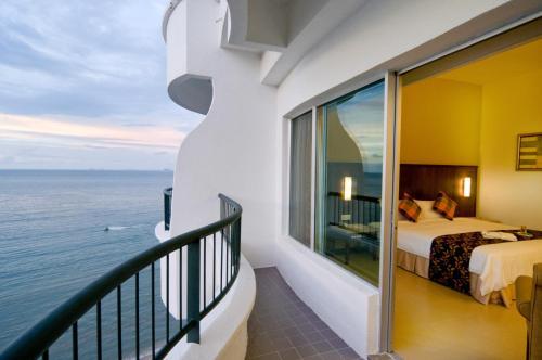 شرفة أو تراس في فندق فلامينغو على الشاطئ، بينانغ