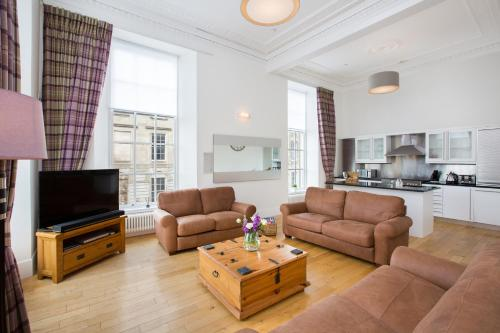 A seating area at Blythswood Square Apartments