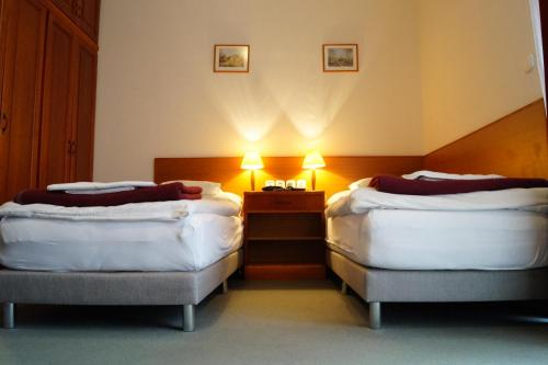 A bed or beds in a room at Hotel Ovit